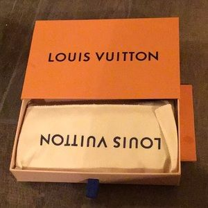 Louis Vuitton Emilie wallet in Damien ebene